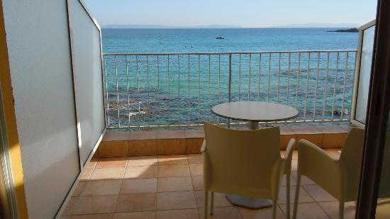 Roc-Hôtel : Terrasse avec vue sur la mer