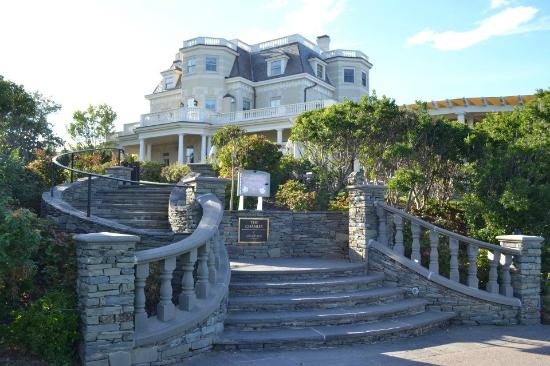 The Chanler at Cliff Walk: View of The Chanler, from the Cliff Walk