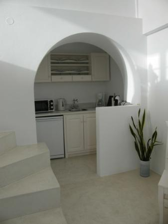 Anastasis Apartments: White Suite Kitchen