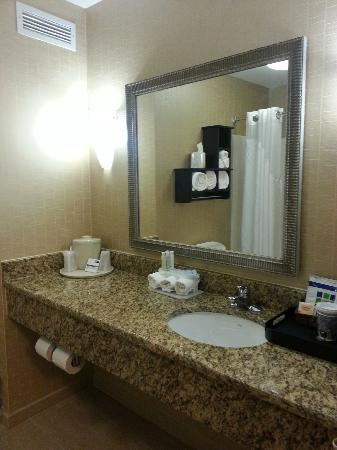 Holiday Inn Express Hotel & Suites: Bathroom Mirror/Sink Area