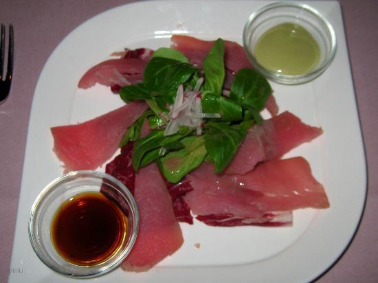 Hotel Restaurant Postli: Grillstübli - Vorspeise Geräuchter Thunfisch