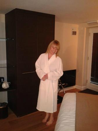 The Cottage in the Wood: Enjoying the Bathrobe supplied