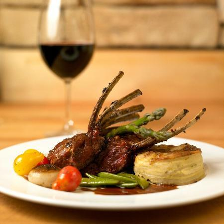 Rustic Kitchen Park Square: Lamb Chop with grilled asparagus and chive layered potato cake