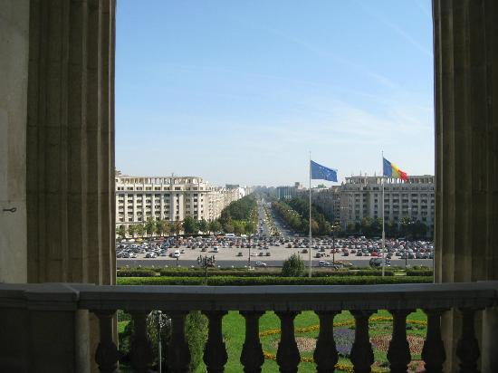 Palace of Parliament: Balcony view