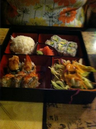 Volcano Sushi: Shrimp and California Roll Lunch Special