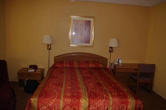 Econo Lodge: Queen bed with side tables, lamps
