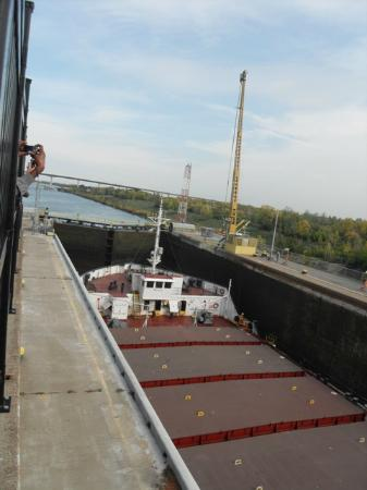 The Welland Canal: ship in dock 2