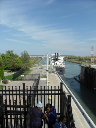 The Welland Canal: this ship leaves