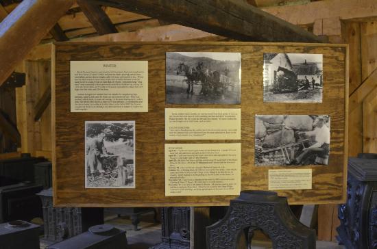 President Calvin Coolidge State Historic Site: Inside barn historical material
