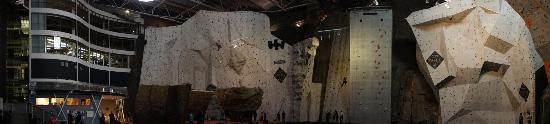 Edinburgh International Climbing Arena: Roped walls from higher angle
