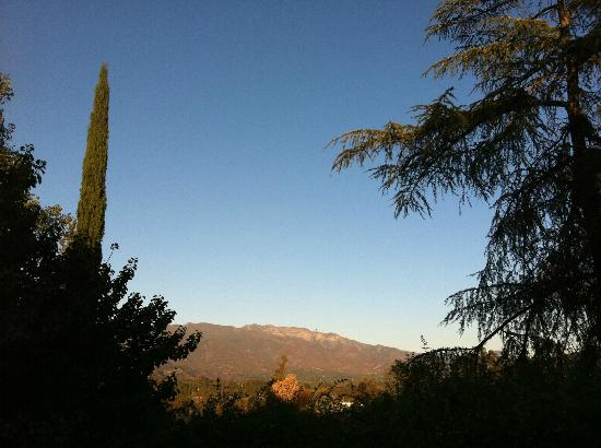 View of the Topa Topa Mountains from the Ojai Retreat