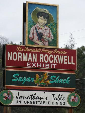 Norman Rockwell Exhibition: Sign for Museum along Route VT-7A
