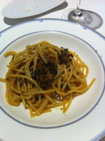 Trattoria La Bissa: spaghetti con i ricci