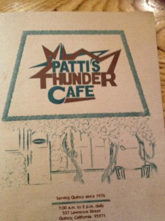 Morning Thunder Cafe: Menu Cover
