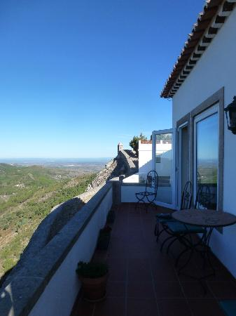 Casa da Arvore: View along the town walls from terrace