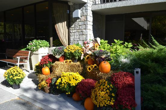 Holiday Inn Bar Harbor Regency: Front of Hotel with Fall decorations