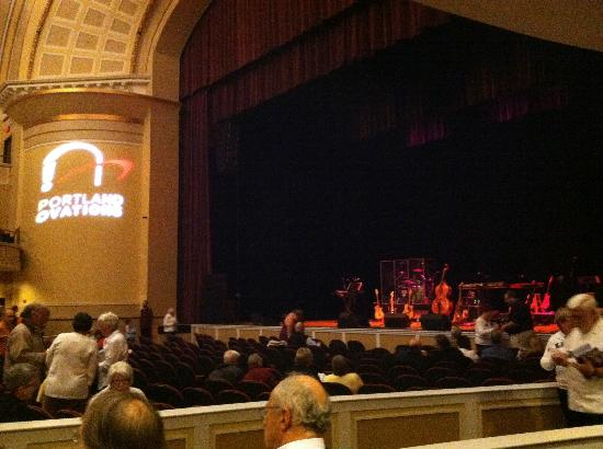 Merrill Auditorium: View from Terrace seating 3rd row, seats 5 & 6