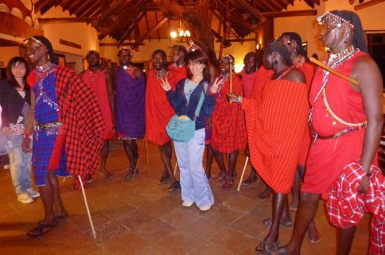 "Keekorok Lodge-Sun Africa Hotels: Masai and visitors--""touristy"" but fun!!"