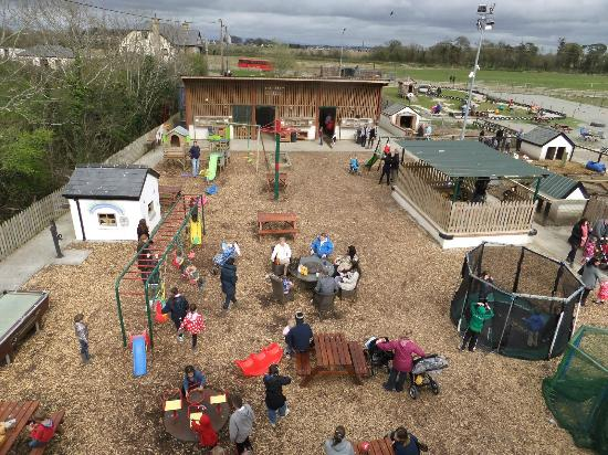 Rancho Reilly: Play area with Sandpit, Trampolines, Swings, Petting Sheds to rear