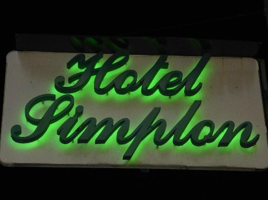 Hotel Simplon: Hotel Sign