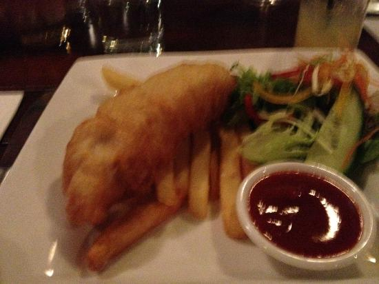 The Beach Shack Restaurant: great kids fish and chips meal