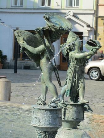 Olomouc Town Hall: water fountain