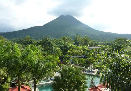 The Royal Corin Thermal Water Spa & Resort: view of Arenal volcano from room