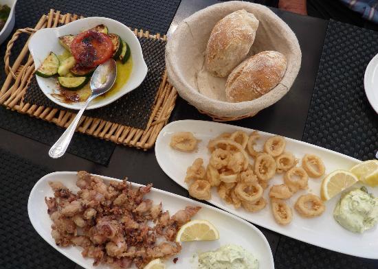 Valerio: Baby octopus, squid rings