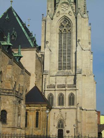 St. Wenceslas Cathedral: tower and side of the cathedral