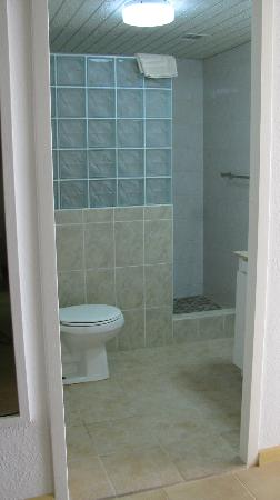 Belair Beach Hotel: 2nd bathroom, w/ tile shower walk in stall - newly tiled