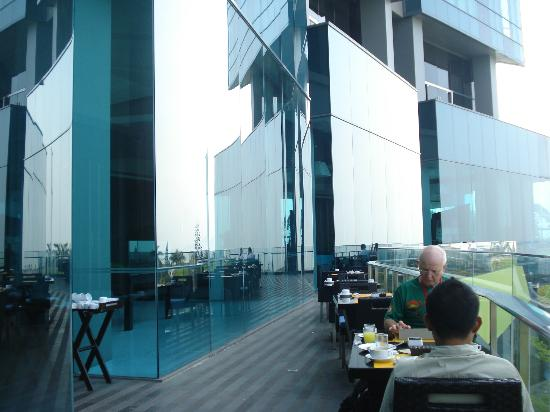 Hotel Novotel Lampung: view from the dining area