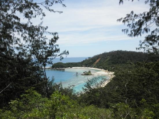 Likuliku Lagoon Resort: View from the top of the hill