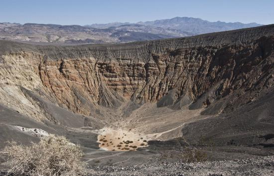 View of Ubehebe Crater half way up the hike.