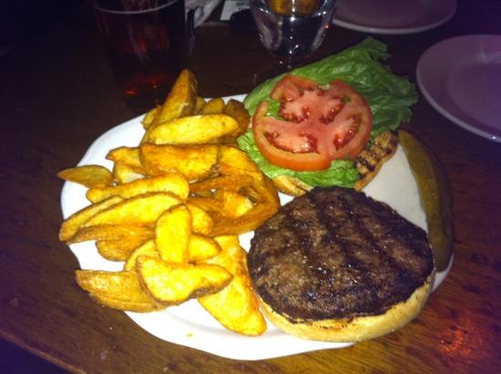 Casey's Caboose Steak House: burger with fries