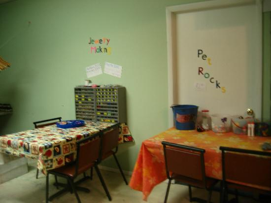 Tanglwood Resort: kids corner craft room
