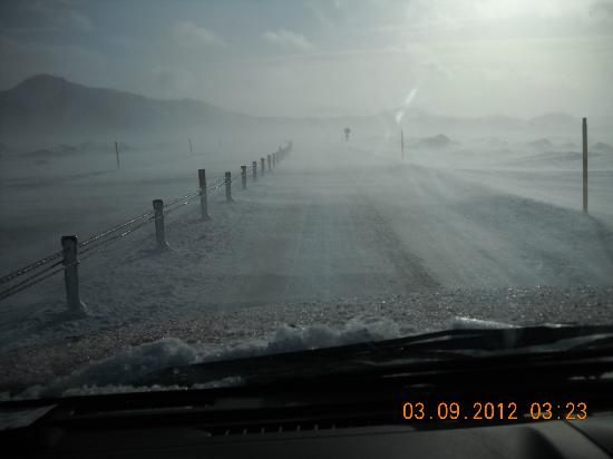 Golden Circle Route: Tough driving conditions