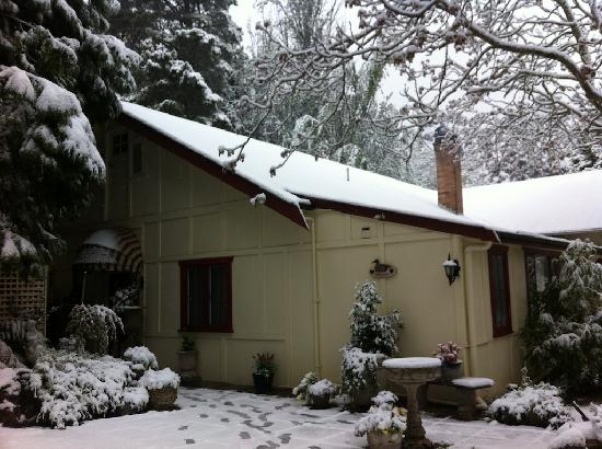 The Chalet Guesthouse and Studio: Winter Snow at The Chalet