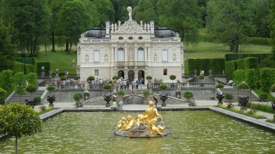 Ettal, Duitsland: Linderhof Palace and the fountain
