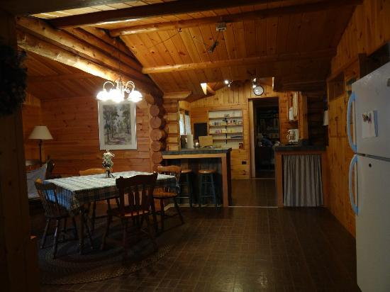 Heston's Lodge: dining area and kitchen
