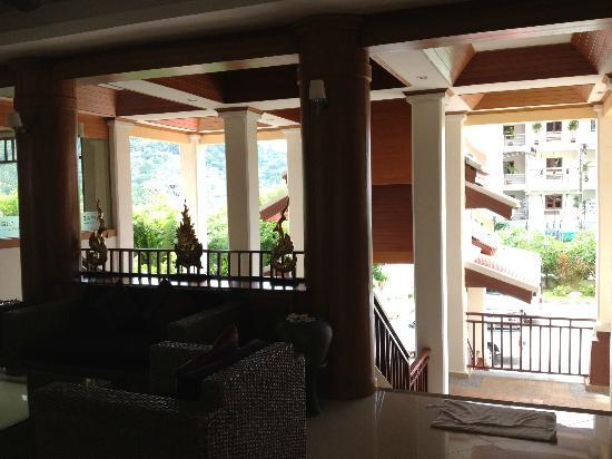 Baan Yuree Resort  and  Spa: from the reception desk looking out at the entrance