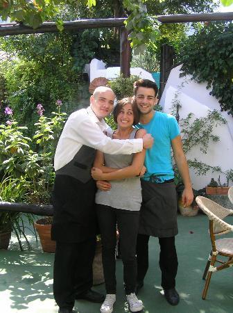 Hotel Villa Janto: Michele, Francesca und Francesco
