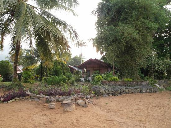 Arlen Nova's Paradise Guesthouse: View of our cottage (number 6) from the beach