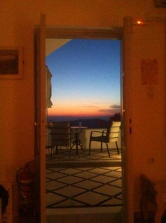 Vallais Villa: vue de la chambre