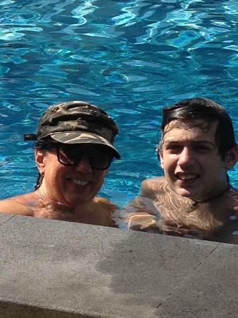 Pondok Ayu : Me and my 14yo son enjoy some pool time