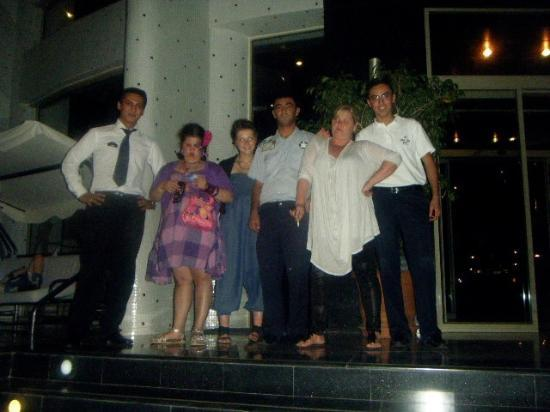 Grand Pasa Hotel: Us n the staff at grand pasa