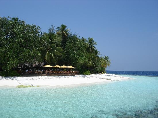 Angsana Ihuru, Maldives: Restaurant nearby the beach