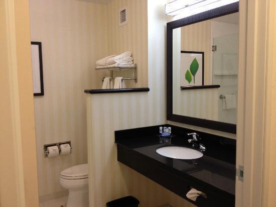 Fairfield Inn & Suites Cedar Rapids : Bathroom