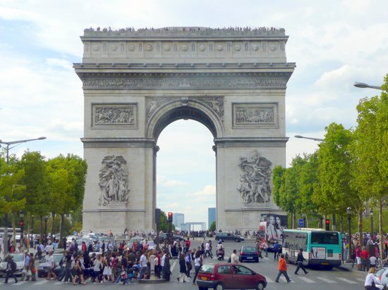 the champs elysees is a busy street picture of champs elysees paris tripadvisor. Black Bedroom Furniture Sets. Home Design Ideas