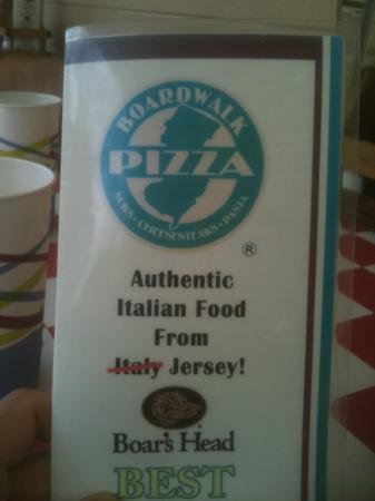 Jersey Boardwalk Pizza: Jersy food