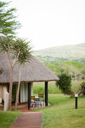 Ubizane Wildlife Reserve: View of Ubizane Hill from Safari Lodge Room